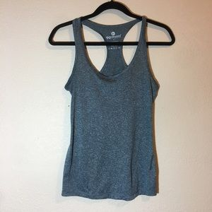 90 Degree blue heathered tank top racer back